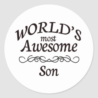 World's Most Awesome Son Classic Round Sticker