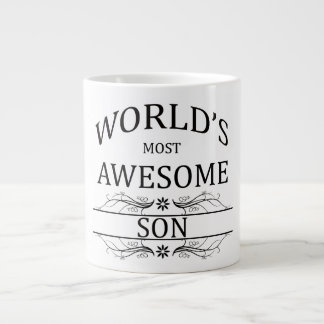World's Most Awesome Son Giant Coffee Mug