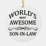 World's Most Awesome Son-In-Law Ornaments