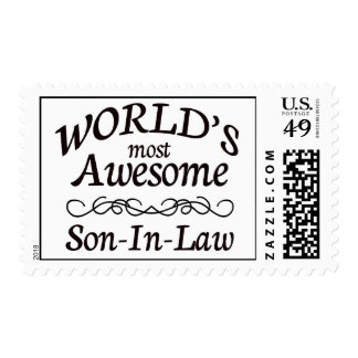 World's Most Awesome Son-In-Law Postage