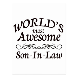 World's Most Awesome Son-In-Law Postcard