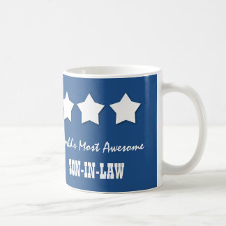 World's Most Awesome SON IN LAW Royal Blue B03 Classic White Coffee Mug