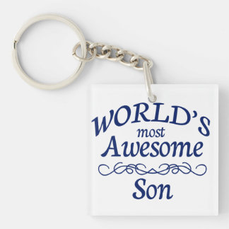 World's Most Awesome Son Keychain