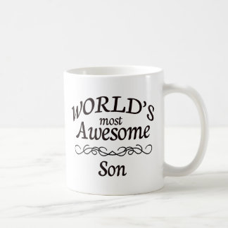 World's Most Awesome Son Classic White Coffee Mug