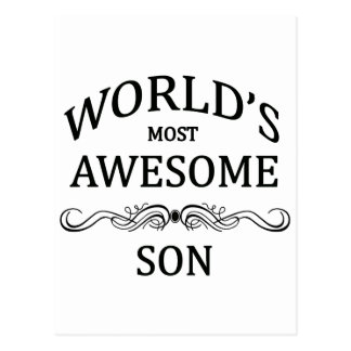 World's Most Awesome Son Postcard