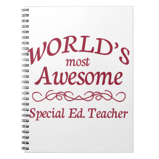 World's Most Awesome Special Ed. Teacher Note Book