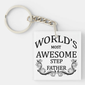 World's Most Awesome Step-Father Keychain
