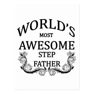 World's Most Awesome Step-Father Postcard