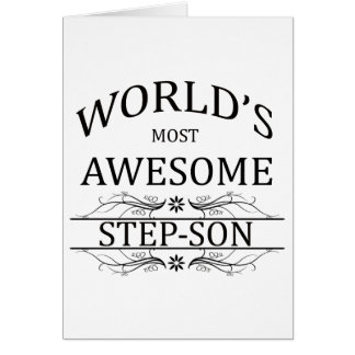 World's Most Awesome Step-Son Card