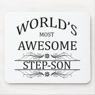 World's Most Awesome Step-Son Mouse Pad