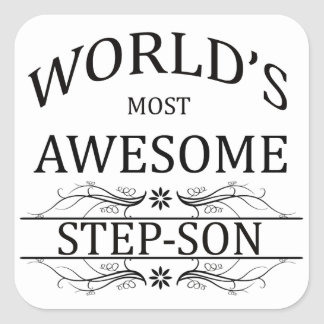 World's Most Awesome Step-Son Square Sticker