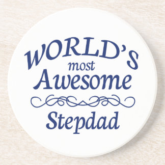 World's Most Awesome Stepdad Drink Coaster