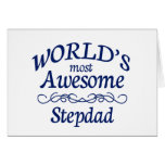 World's Most Awesome Stepdad Greeting Card