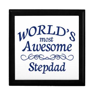 World's Most Awesome Stepdad Keepsake Box