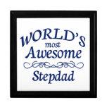World's Most Awesome Stepdad Keepsake Boxes
