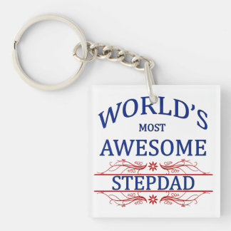 World's Most Awesome Stepdad Keychain