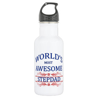 World's Most Awesome Stepdad 18oz Water Bottle