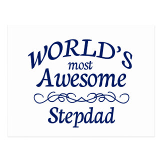 World's Most Awesome Stepdad Postcard