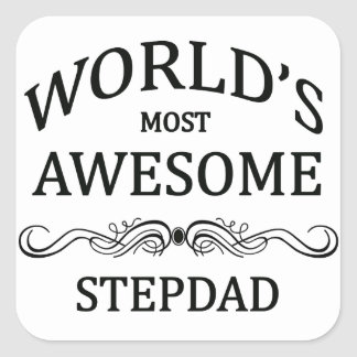 World's Most Awesome Stepdad Square Sticker