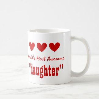 World's Most Awesome STEPDAUGHTER Hearts V03K3 Coffee Mug