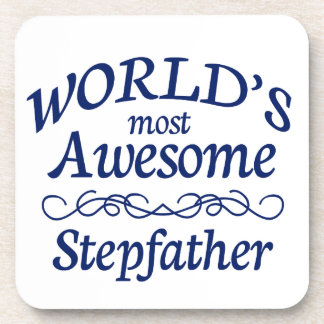 World's Most Awesome Stepfather Beverage Coaster