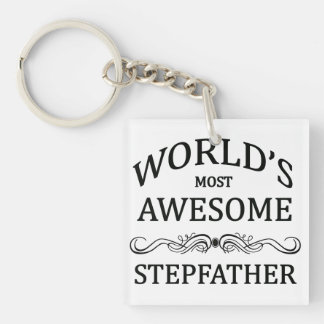 World's Most Awesome Stepfather Keychain