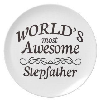 World's Most Awesome Stepfather Melamine Plate