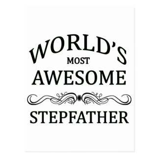 World's Most Awesome Stepfather Postcard