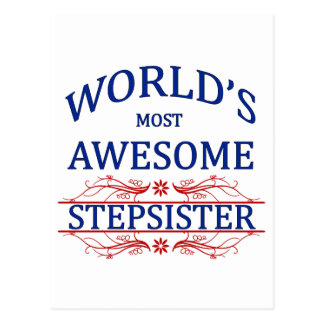 World's Most Awesome Stepsister Postcard
