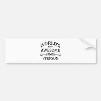 World's Most Awesome Stepson Bumper Sticker
