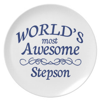 World's Most Awesome Stepson Melamine Plate