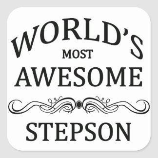 World's Most Awesome Stepson Square Sticker