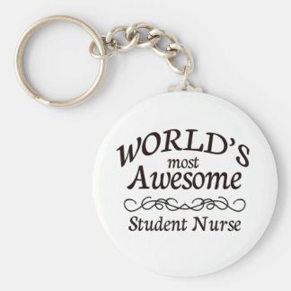 World's Most Awesome Student Nurse Basic Round Button Keychain