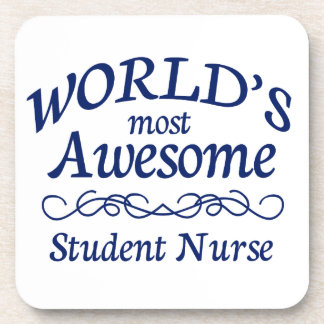 World's Most Awesome Student Nurse Beverage Coaster