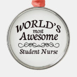 World's Most Awesome Student Nurse Christmas Tree Ornaments