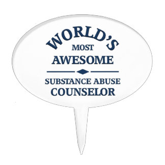 World's most awesome substance abuse counselor cake topper