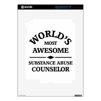 World's most awesome Substance Abuse Counselor iPad 2 Decals
