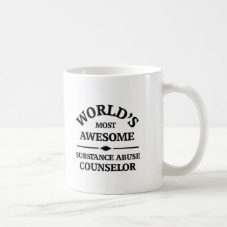 World's most awesome Substance Abuse Counselor Classic White Coffee Mug
