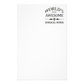 World's Most Awesome Surgical Nurse Custom Stationery