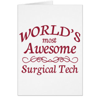 World's Most Awesome Surgical Tech Card