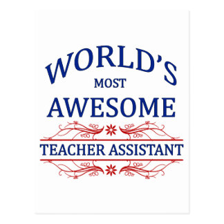 World's Most Awesome Teacher Assistant Postcard