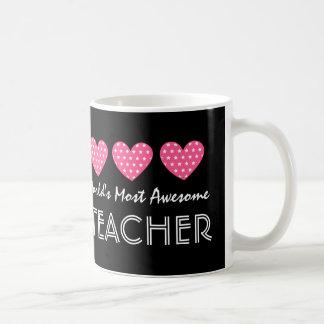 World's Most Awesome TEACHER Hearts V06 Coffee Mug