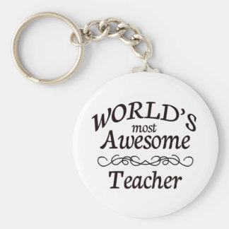 World's Most Awesome Teacher Keychain