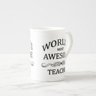 World's Most Awesome Teacher Porcelain Mugs