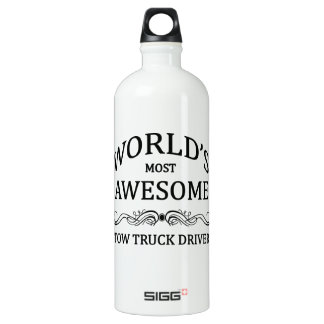 World's Most Awesome Tow Truck Driver Aluminum Water Bottle