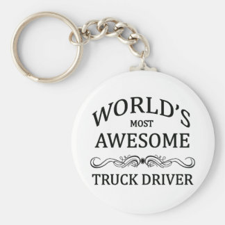 World's Most Awesome Truck Driver Keychain
