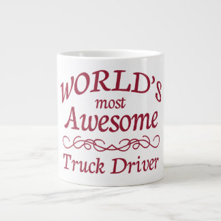 World's Most Awesome Truck Driver Large Coffee Mug