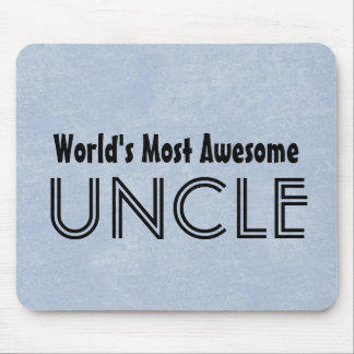 Worlds Most Awesome Uncle Blue Grunge Gift Item Mouse Pad