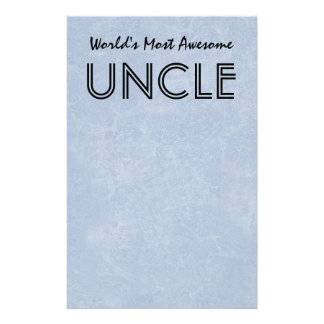 Worlds Most Awesome Uncle Blue Grunge Gift Item Stationery