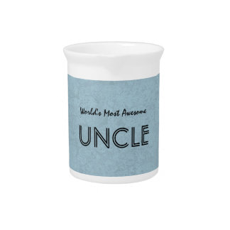 World's Most Awesome UNCLE Blue Grunge Beverage Pitchers